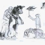 Entwurf für Bühnenfiguren Theater an der Parkaue