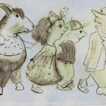 Skizze zu Theaterpuppen Puppentheater Bautzen