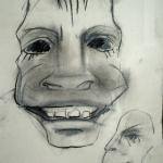 Skizze zum Entwurf einer Maske
