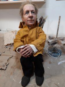 Portraitpuppe als Theaterfigur