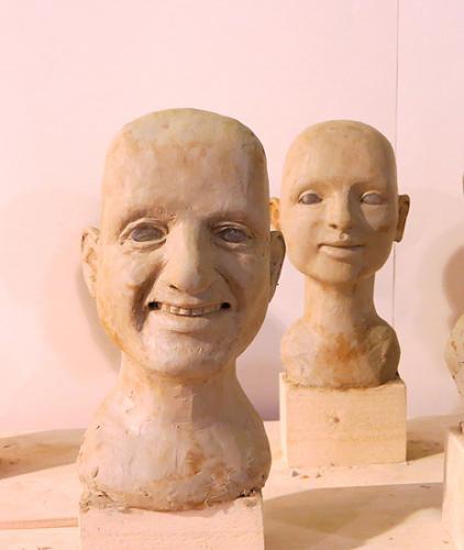 Portraitköpfe für Handpuppen-Figurenbau, Puppenbau und Kostümwerkstatt ATELIER MÄHLER
