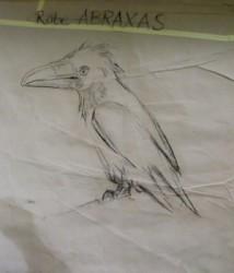 Entwurfsskizze zur Klappmaulpuppe Abraxas